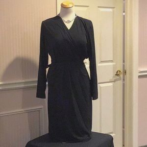 NWOT bundled Black  long sleeve dress &necklace